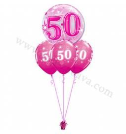 Dekoracija iz balonov za 40 let, bubble modra