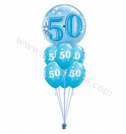 Dekoracija iz balonov 50 let, bubble pink