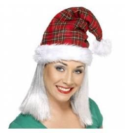 Božičkova kapa Tartan