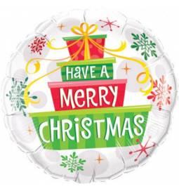 Folija balon Božična darila