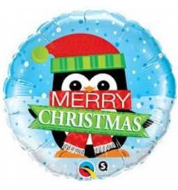 Folija balon Vesel Božič Snowman