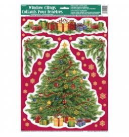 Nalepke za steklo Božično drevo