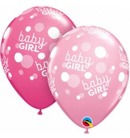 Baloni za rojstvo, Baby Girl Dots 10/1