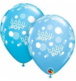 Baloni za rojstvo, Baby Boy Dots 10/1