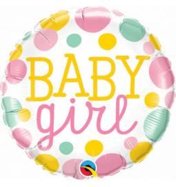 Balon za rojstvo Baby Girl Dots