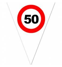 Zastavice Prometni znak 40 let, 5m