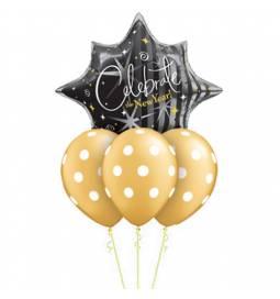 Dekoracija iz balonov za 30 let, modra