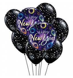 Dekoracija iz balonov Novo leto Stars