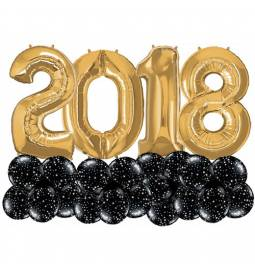 Dekoracija iz balonov Novo leto Stars 1