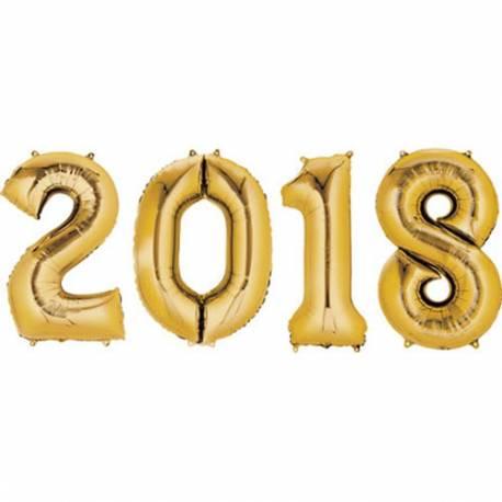 XXL set balonov 2018, zlati