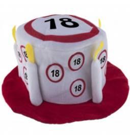 Klobuček v obliki torte za 18 let