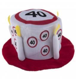 Klobuček v obliki torte za 30 let