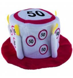 Klobuček v obliki torte za 40 let