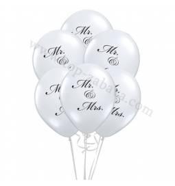 Poročni balonski šopek, MR & Mrs 10/1