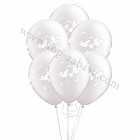 Poročni balonski šopek, Goloba, Pearl pink 10/1